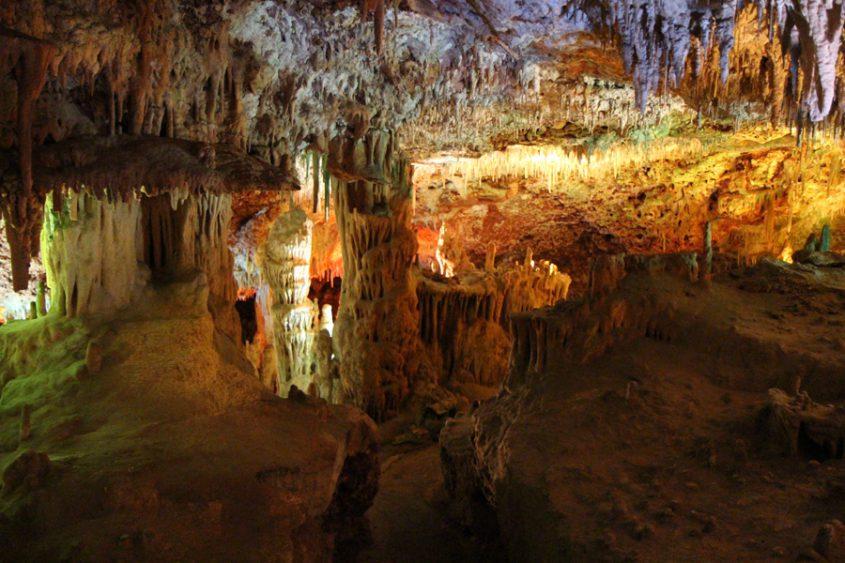 Tropfsteinhöhle auf Mallorca von innen