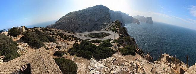 Anfahrt zum Cap Formentor