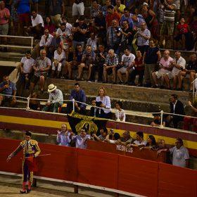 Mitglieder der Königsfamilie beim Stierkampf auf Mallorca