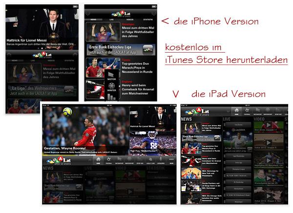 Laola1.tv App für iPhone und iPad