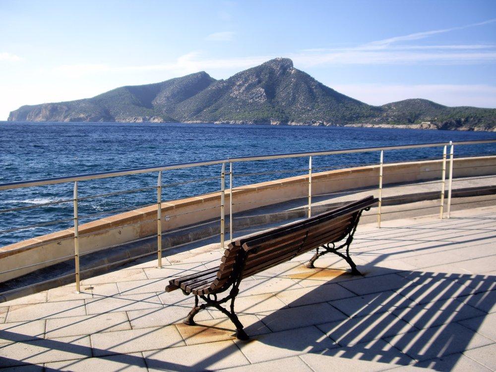 Blick von Sant Elm auf Sa Dragonera, Mallorca
