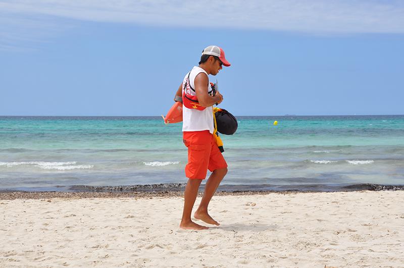 Rettungsschwimmer Strand Mallorca