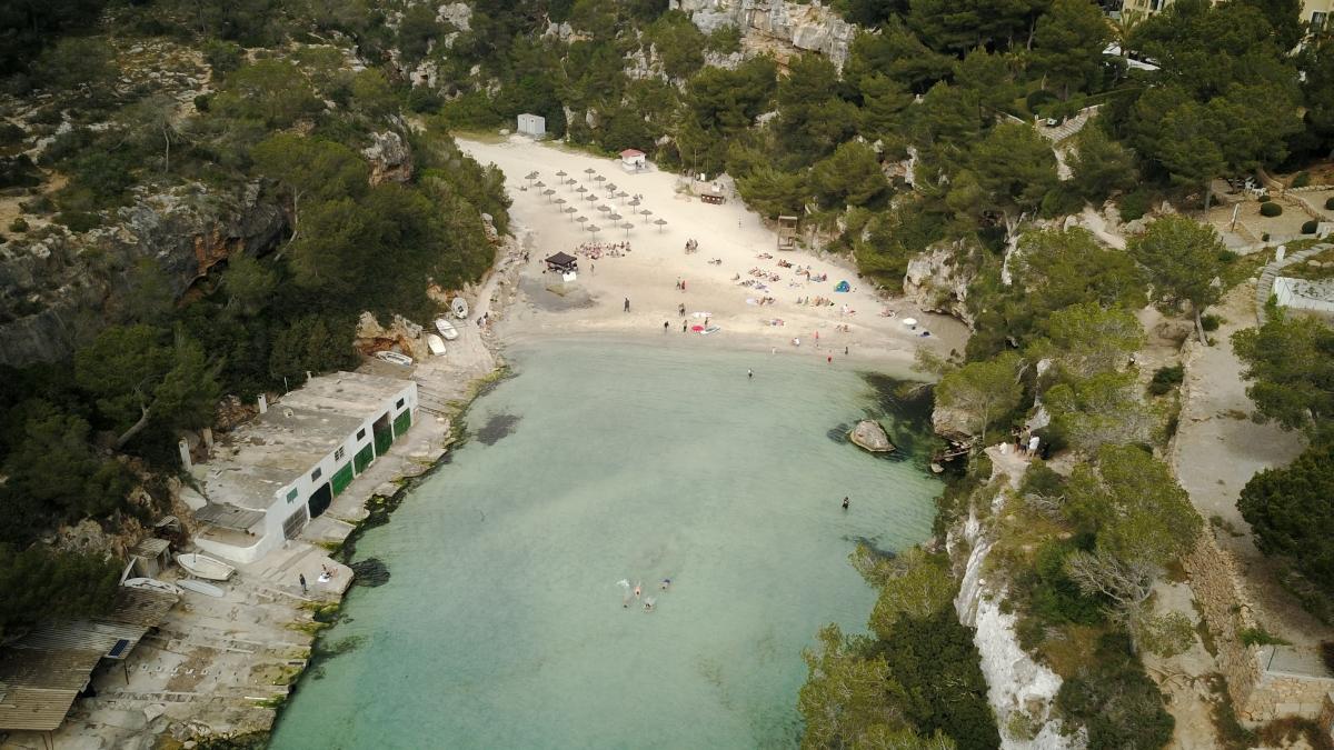 Cala Pi Beach Luftaufnahme